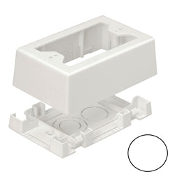 Panduit JBX3510WH-A Mini-Com Single Gang Junction Box, 2 Piece, White