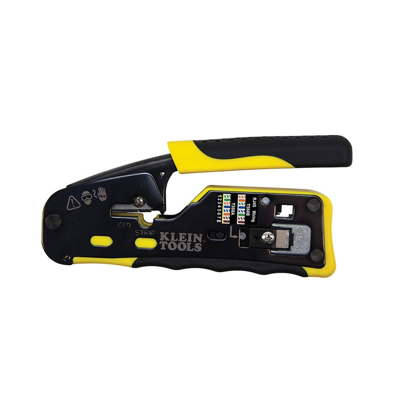 Klein Tools VDV226-110 Modular Crimper, Crimps & Trims Klein RJ45 Pass-Through Plugs