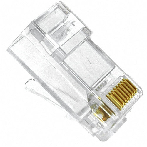 RJ-88S RJ45 Modular Plug: 8 Position / 8 Conductor for Round, Solid or Stranded CAT5e Cable