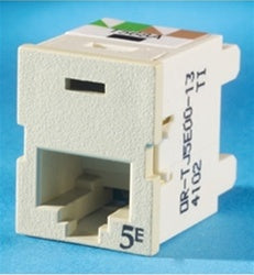 Ortronics OR-TJ5E00-13 CAT5e RJ45 TracJack Jack Module, Electric Ivory, Pack of 20