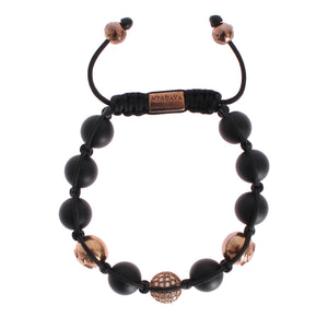 Load image into Gallery viewer, CZ Onyx Pink Gold 925 Bracelet
