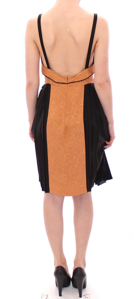 Load image into Gallery viewer, Black Bronze Silk Sleeveless Above Sheath Dress