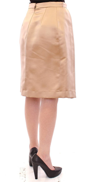 Load image into Gallery viewer, Brown Silk Solid Mini Pleated Skirt