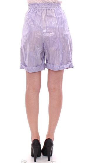 Load image into Gallery viewer, Purple Above-Knee Wrap Shorts