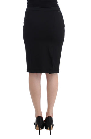 Load image into Gallery viewer, Black Straight Pencil Skirt
