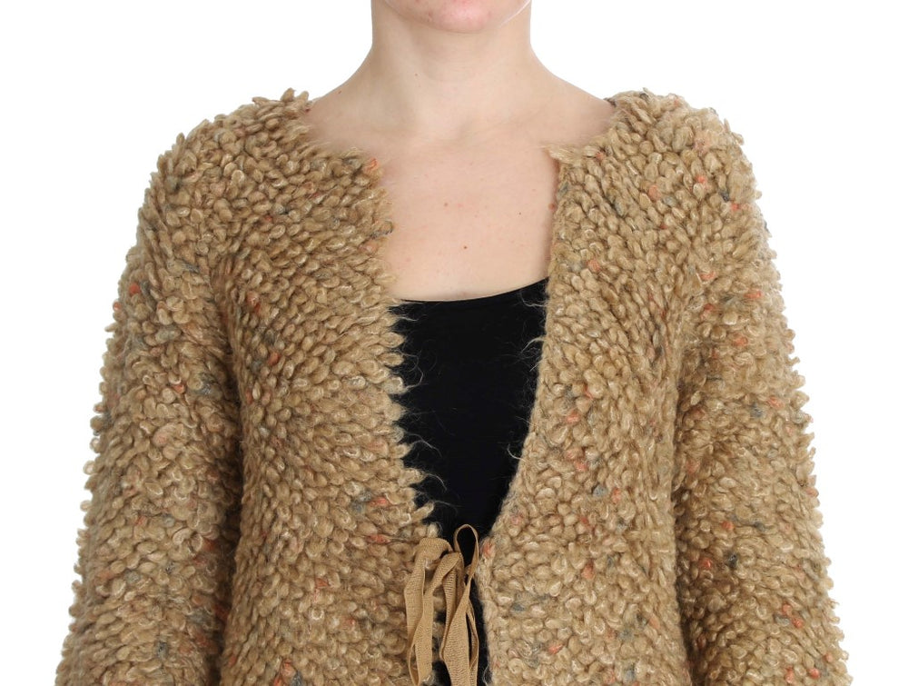 Load image into Gallery viewer, Beige Wool Blend Cape Sweater