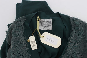 Load image into Gallery viewer, Green Lace Cotton Cardigan Sweater