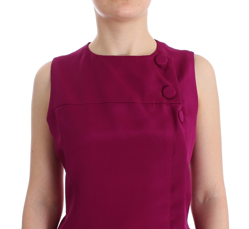 Load image into Gallery viewer, Purple Silk Sleeveless Blouse Top
