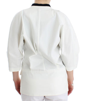 Load image into Gallery viewer, White Cotton Blend Oversized Blazer Jacket