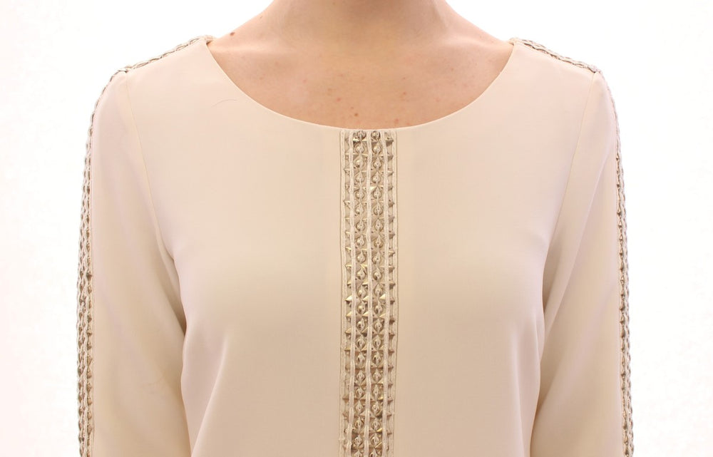 Load image into Gallery viewer, White Cream Studded Tunic Dress