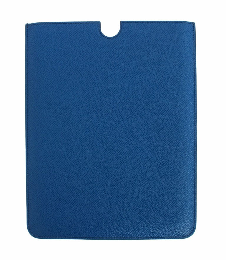 Load image into Gallery viewer, Blue Leather iPAD Tablet eBook Cover Bag