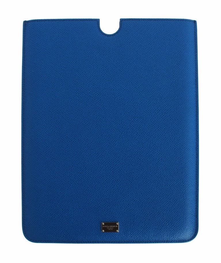 Blue Leather iPAD Tablet eBook Cover Bag