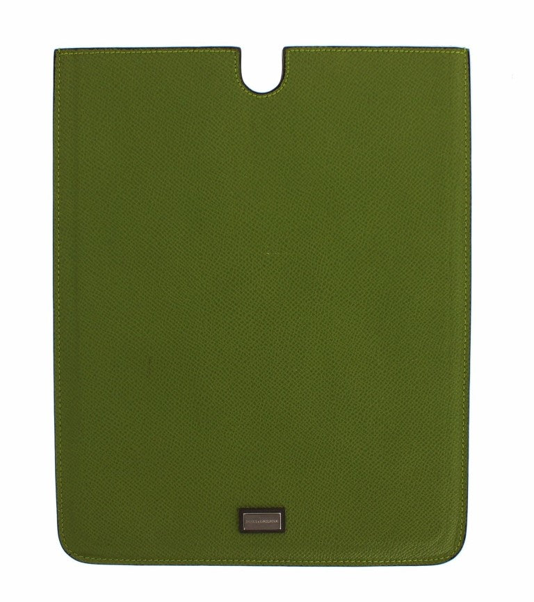 Green Leather P2 Tablet eBook Cover Bag
