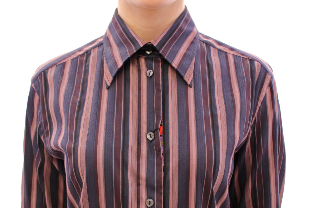 Load image into Gallery viewer, Multicolor Striped Floral Cotton Shirt