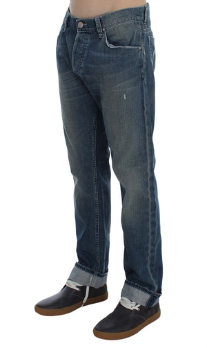 Load image into Gallery viewer, Blue Wash Cotton Denim Regular Fit Jeans