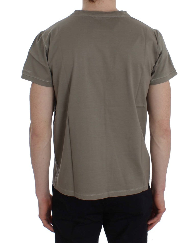 Load image into Gallery viewer, Green Kaki Cotton Crewneck T-shirt