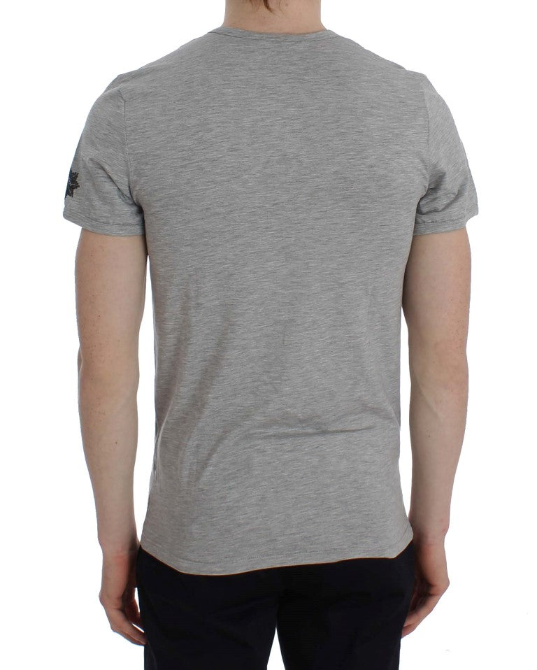 Load image into Gallery viewer, Gray Modal Stretch Crew-neck Underwear T-shirt