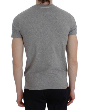 Load image into Gallery viewer, Gray Cotton Stretch Crew-neck Underwear T-shirt
