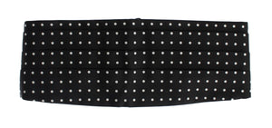 Load image into Gallery viewer, Black Polka Dotted Waist Belt Silk Cummerbund - Go for Brands