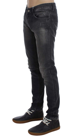 Load image into Gallery viewer, Gray Cotton Stretch Super Slim Fit Jeans