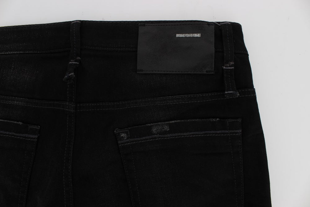 Load image into Gallery viewer, Black Wash Cotton Stretch Slim Fit Jeans