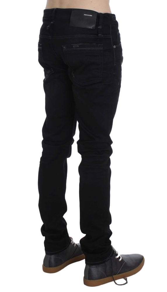 Black Wash Cotton Stretch Slim Fit Jeans