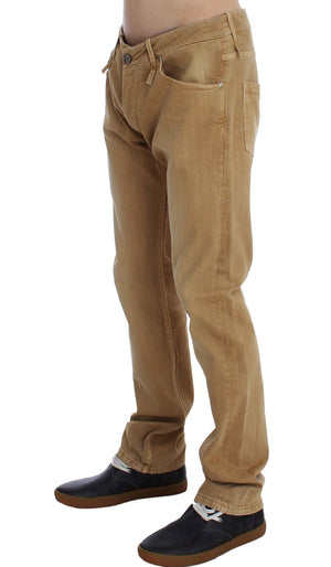 Load image into Gallery viewer, Beige Wash Cotton Stretch Regular Fit Jeans