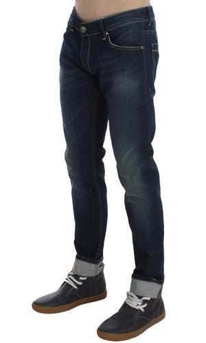Load image into Gallery viewer, Blue Wash Cotton Stretch Slim Skinny Fit Jeans