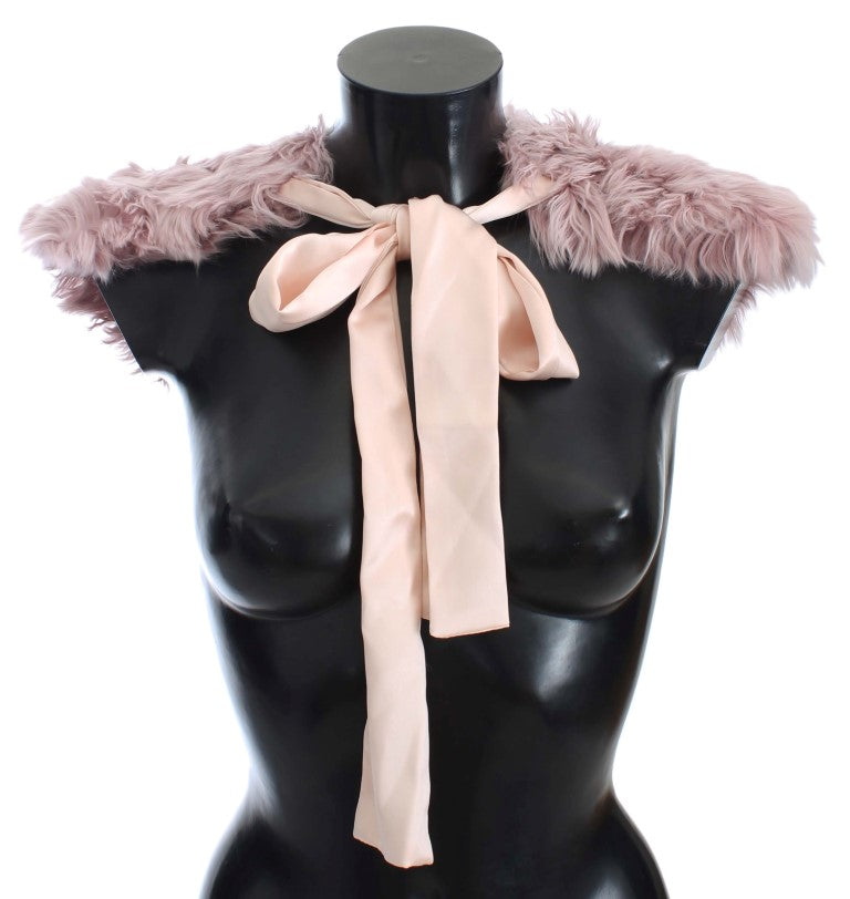 Load image into Gallery viewer, Pink Alpaca Strap Collar Scarf