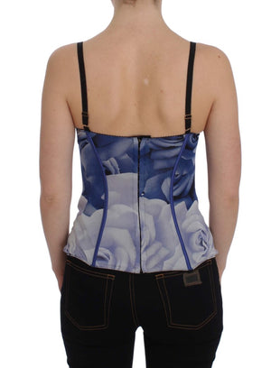 Load image into Gallery viewer, Blue Corset Bustier Top Underwear
