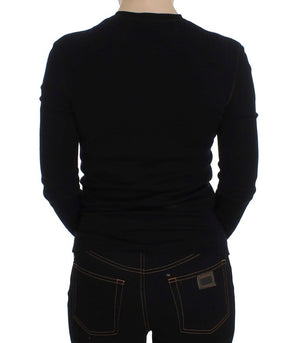 Load image into Gallery viewer, Black Long Sleeve Henley Sweater