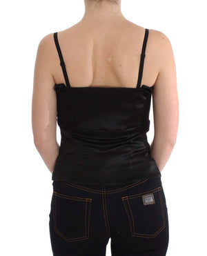 Load image into Gallery viewer, Black Tank Party Evening Top Blouse