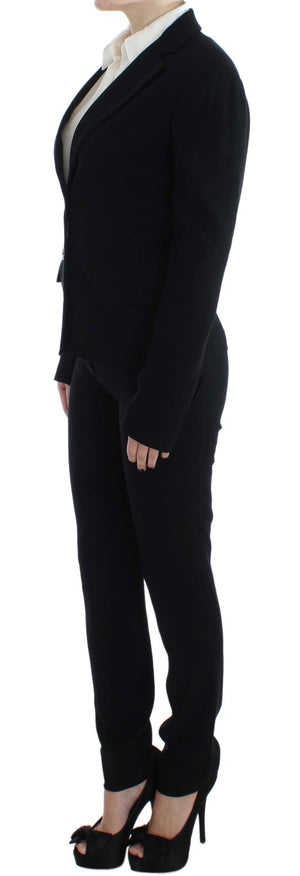 Load image into Gallery viewer, Black Two Button Two Piece Suit