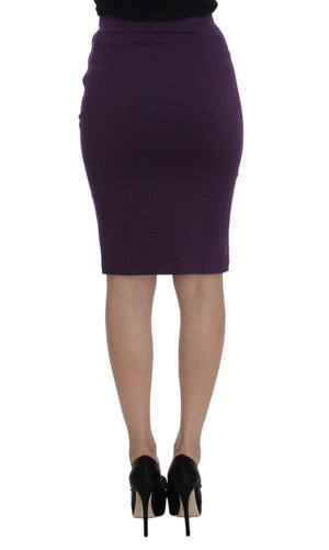 Load image into Gallery viewer, Purple Stretch Pencil Skirt