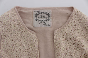 Load image into Gallery viewer, Pink Floral Lace Wrap Sweater