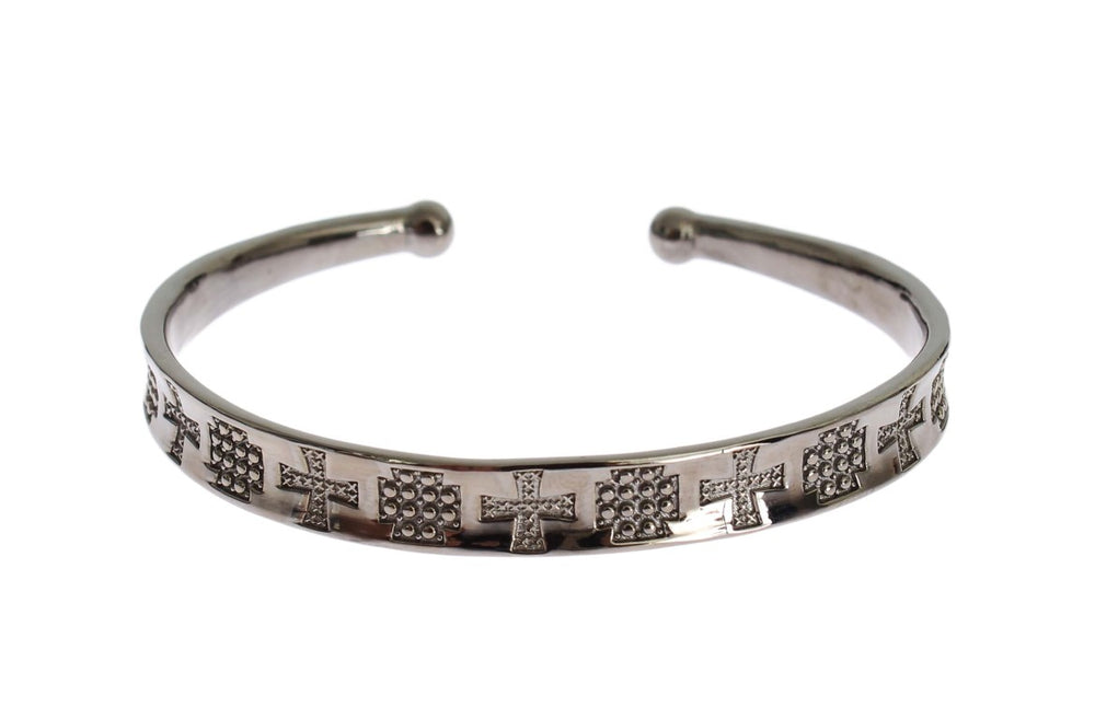 Load image into Gallery viewer, Gray Rhodium 925 Silver Bangle Bracelet