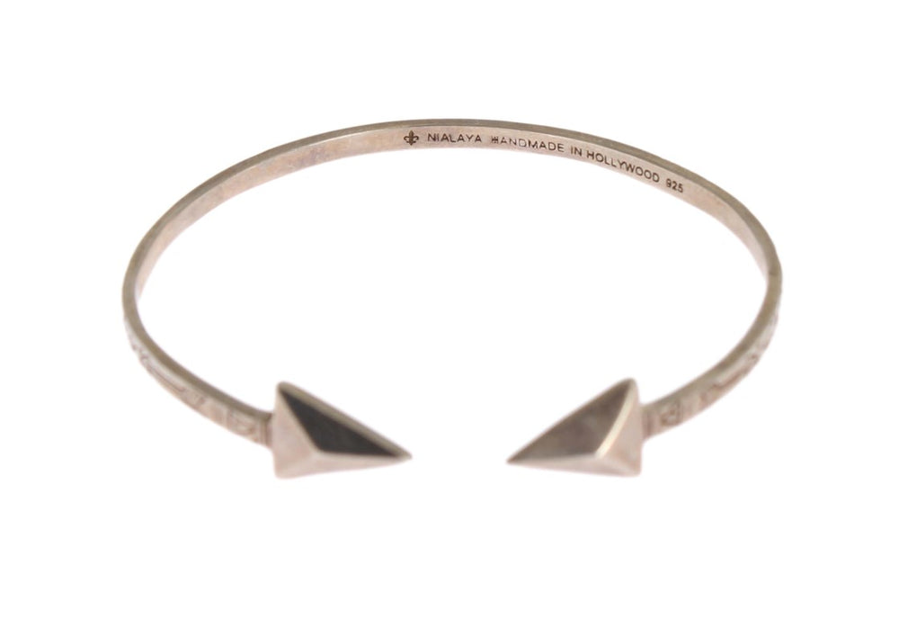 Load image into Gallery viewer, Arrow Cuff 925 Silver Bangle Bracelet