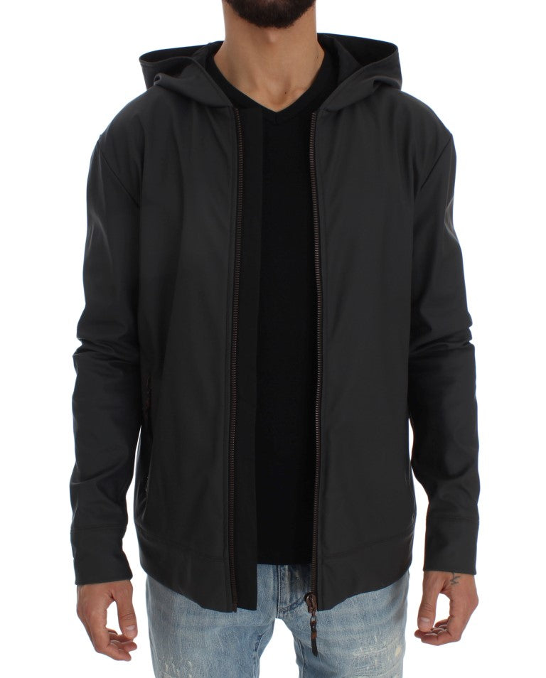 Load image into Gallery viewer, Gray Stretch Windbreaker Jacket