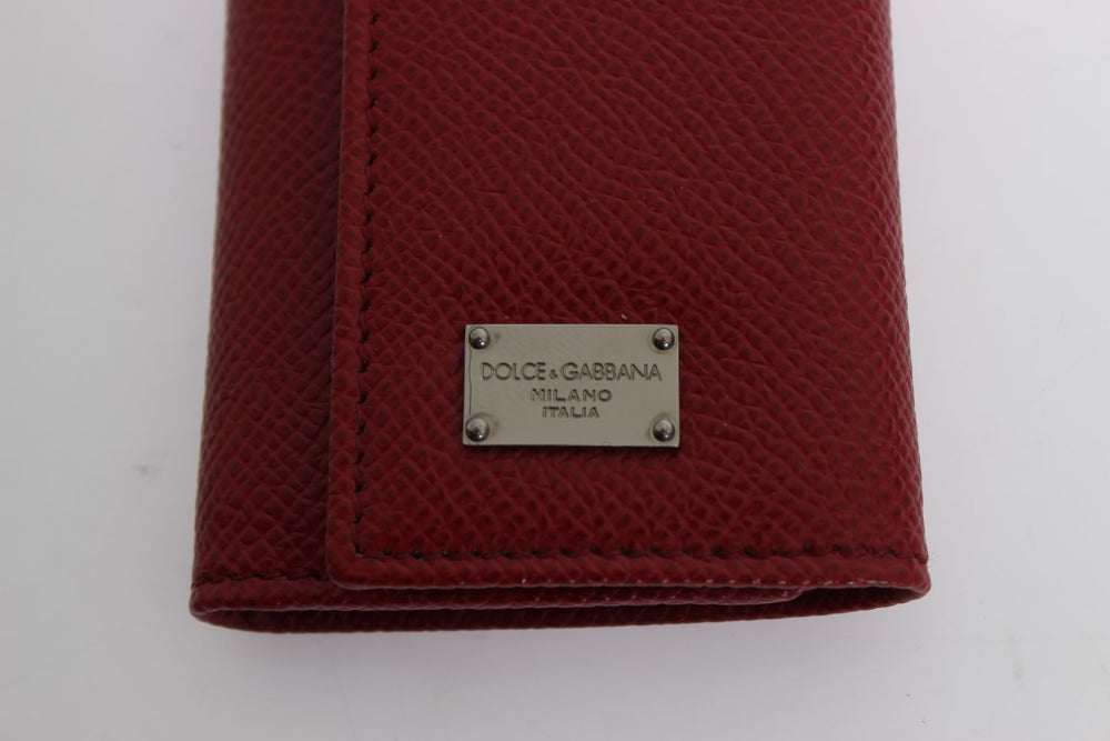 Load image into Gallery viewer, Red Leather Key Case Wallet - Go for Brands