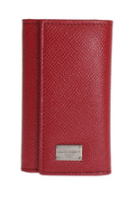 Red Leather Key Case Wallet - Go for Brands