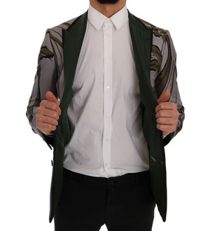 Load image into Gallery viewer, Gray Green Floral Slim Fit Blazer Jacket