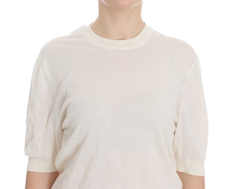 Load image into Gallery viewer, White 100% Cashmere Sweater