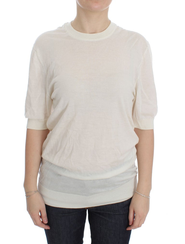 White 100% Cashmere Sweater