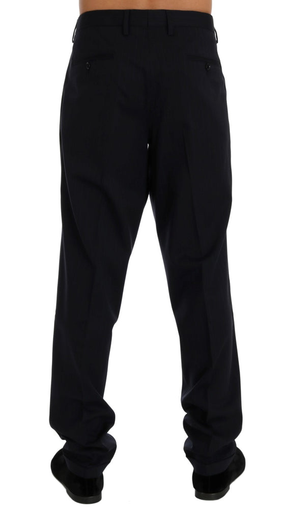 Load image into Gallery viewer, Blue Wool Stretch Dress Formal Pants