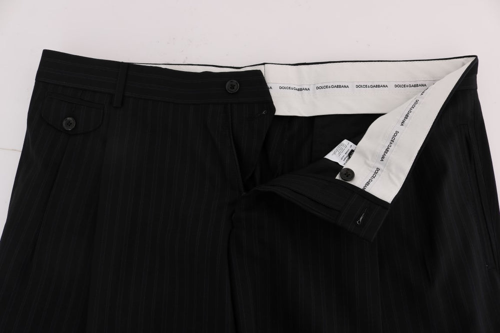 Load image into Gallery viewer, Blue Striped Wool Stretch Pants