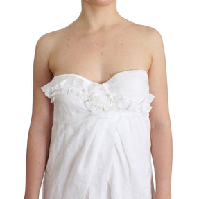 Load image into Gallery viewer, Beachwear White Beach Dress Bustier Mini