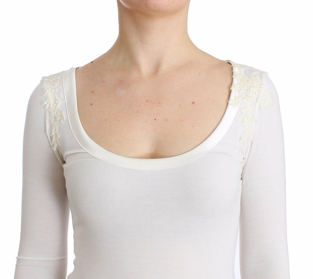 Load image into Gallery viewer, Lingerie White Top Blouse Jumper Lace Rayon
