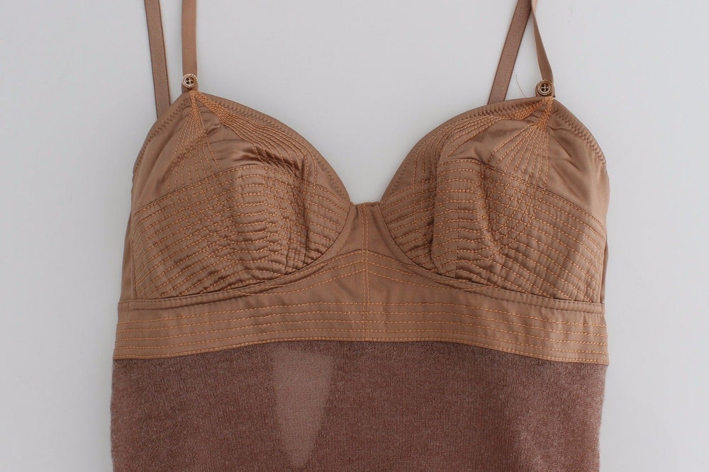 Load image into Gallery viewer, Lingerie Brown Bustier Top Camisole Cami