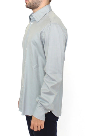 Load image into Gallery viewer, Gray Cotton Long Sleeve Casual Shirt Top