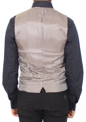 Load image into Gallery viewer, Beige Cotton Stretch Dress Vest Blazer